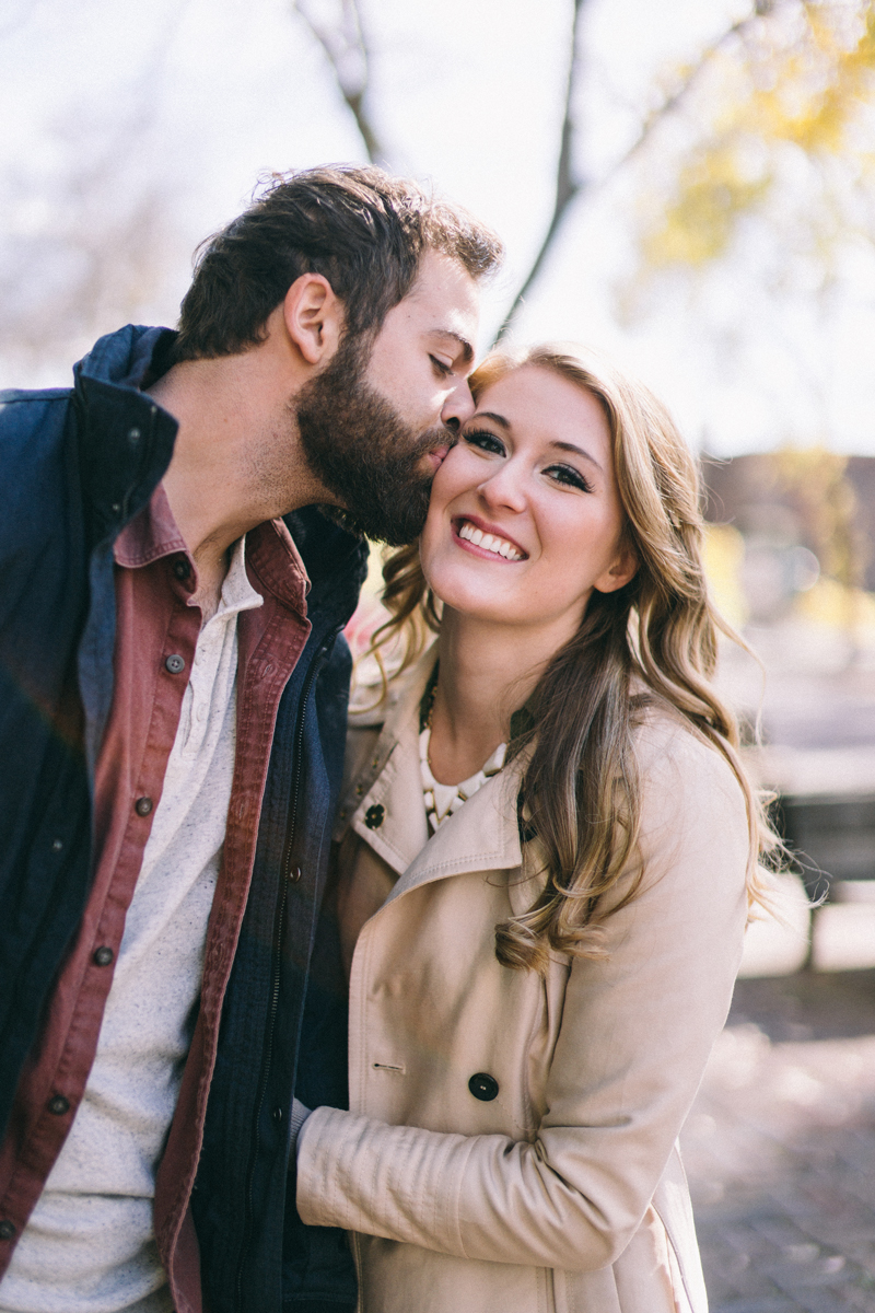 fall minneapolis engagement photos