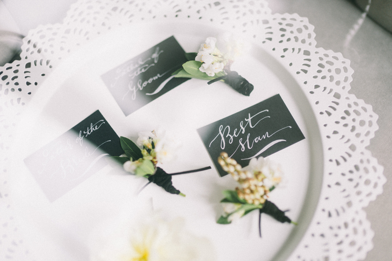 Paris inspired wedding calligraphy by Hooked Calligraphy
