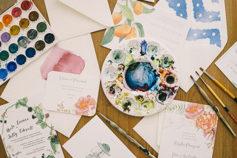Watercolor Stationary Sara Fitz Maine Nautical