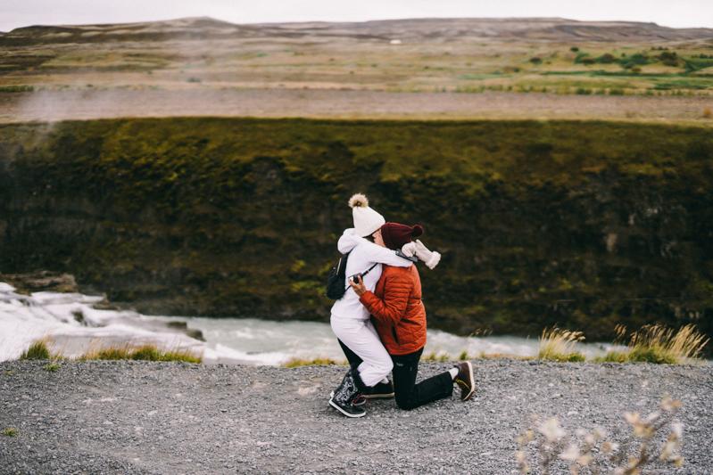 Iceland Proposal Photographer Gullfoss waterfall