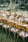 Backyard Brunch wedding with fall palette in Dayton Maine