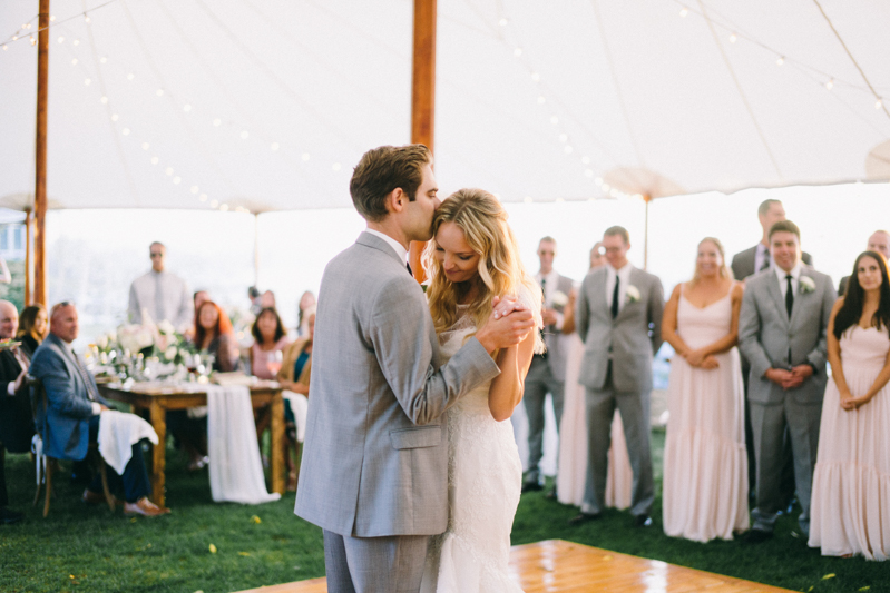 Kennebunkport Wedding with candlelit reception