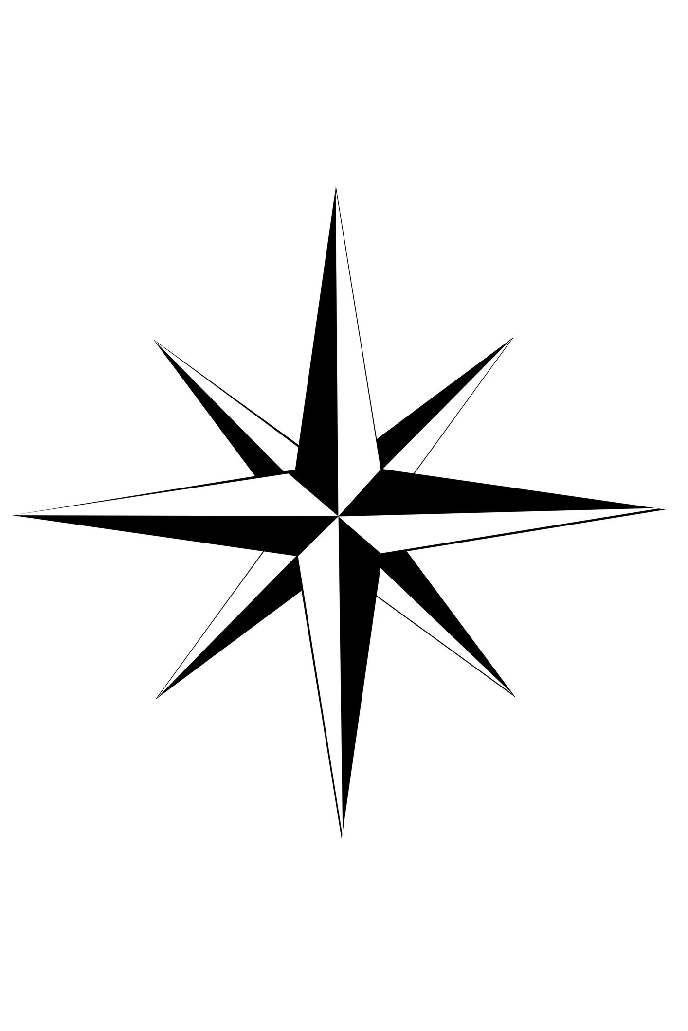 Cardinal Directions Compass Rose
