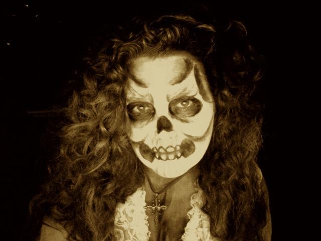 Banshee costume and makeup