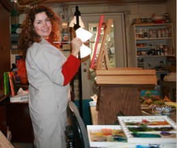 Me painting in my art studio