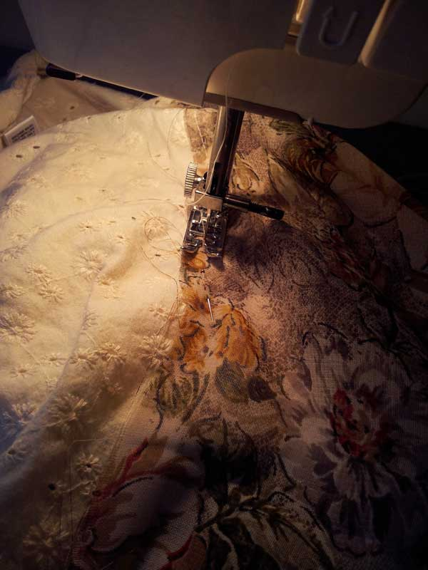 me sewing away close up