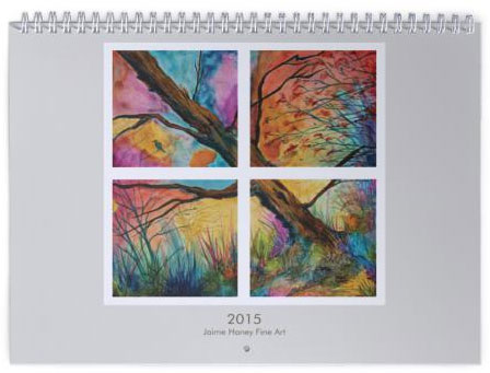 cover for 2015 wall calendar by Jaime Haney