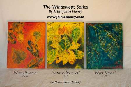 Windswept series - abstract leaves