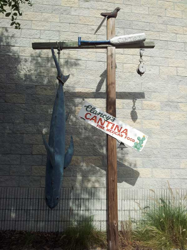 outdoor decor at Clancy's Cantina Mexican Restaurant