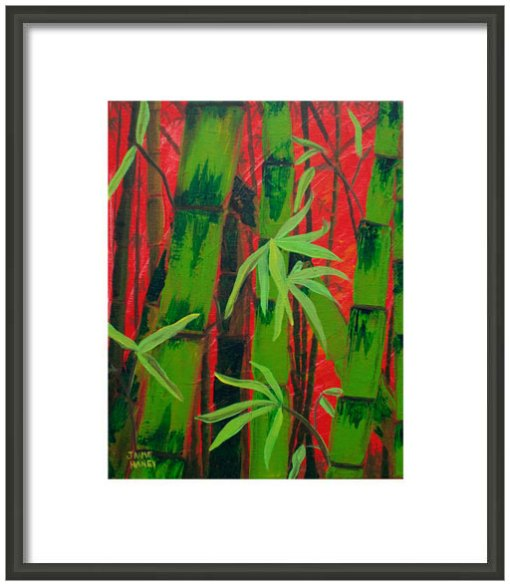 Sultry Bamboo Forest painting print