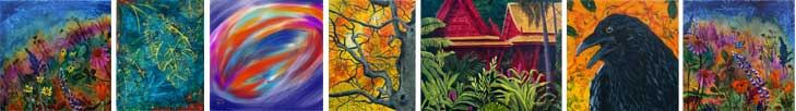 paintings by New Harmony, Indiana artist Jaime Haney