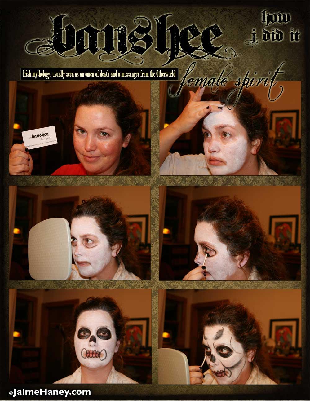Banshee female spirit makeup tutorial part 1