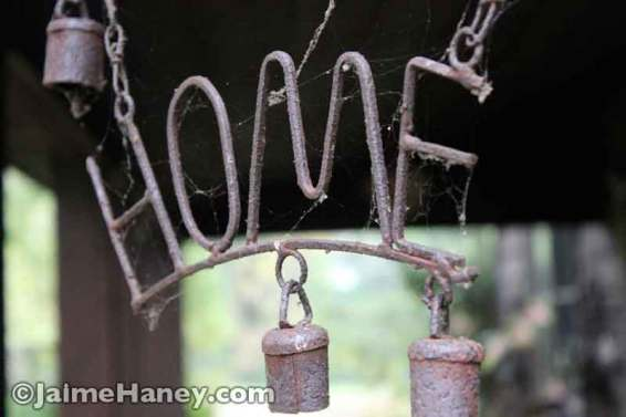 rusty Home wind chime with bells