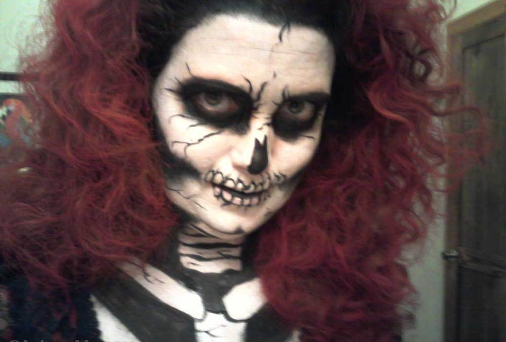 Red Death Costume Halloween Face and Body Tutorial