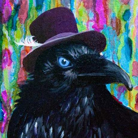 Beautiful Dreamer Black Raven Crow close up details ©Jaime Haney