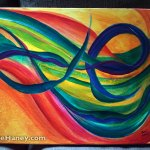 Canvas #3 of Mellifluous Wind, a triptych
