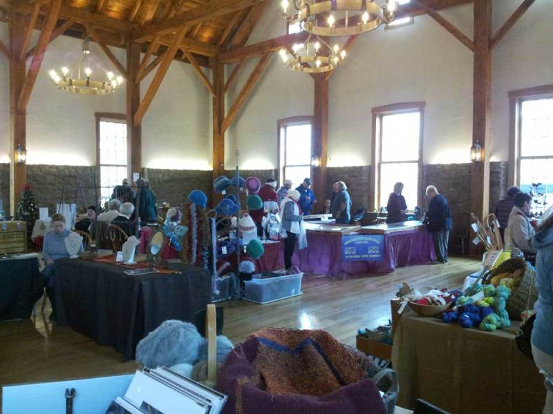 Vendors at 2014 Christmas in New Harmony