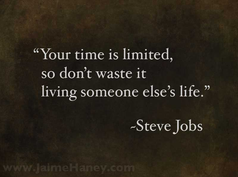 Steve Jobs quote on classy background