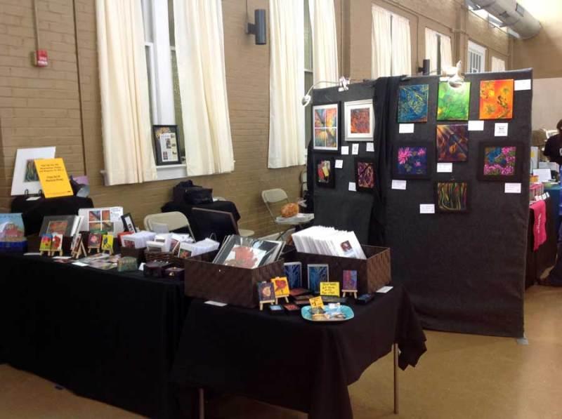 2015 Spring Fling art booth