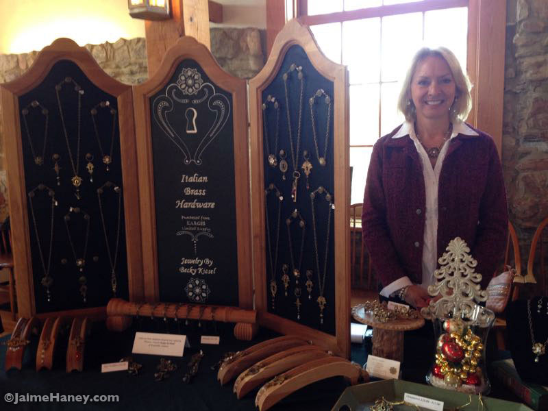 Becky Kiesel jewelry at Christmas in New Harmony at the Rapp-Owen Granary