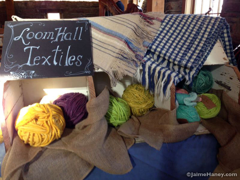 Loom Hall Textiles booth at Christmas in New Harmony