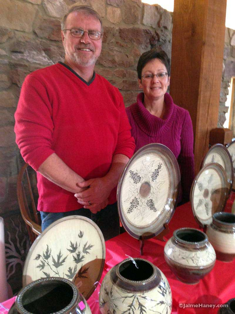 Tony and Christy Treadway in the Rapp-Owen Granary at Christmas in New Harmony
