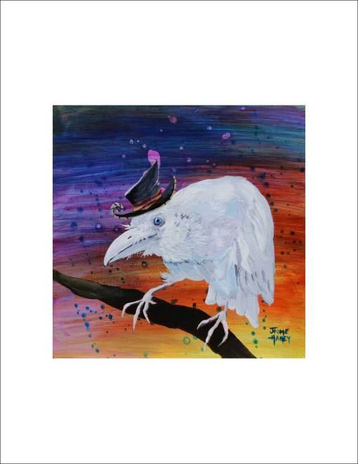 White raven print
