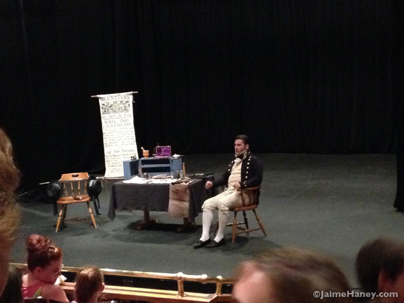 Albert Roberts speaking about being a medical doctor during the 19th century at the Heritage Artisans Days in New Harmony Indiana 2016