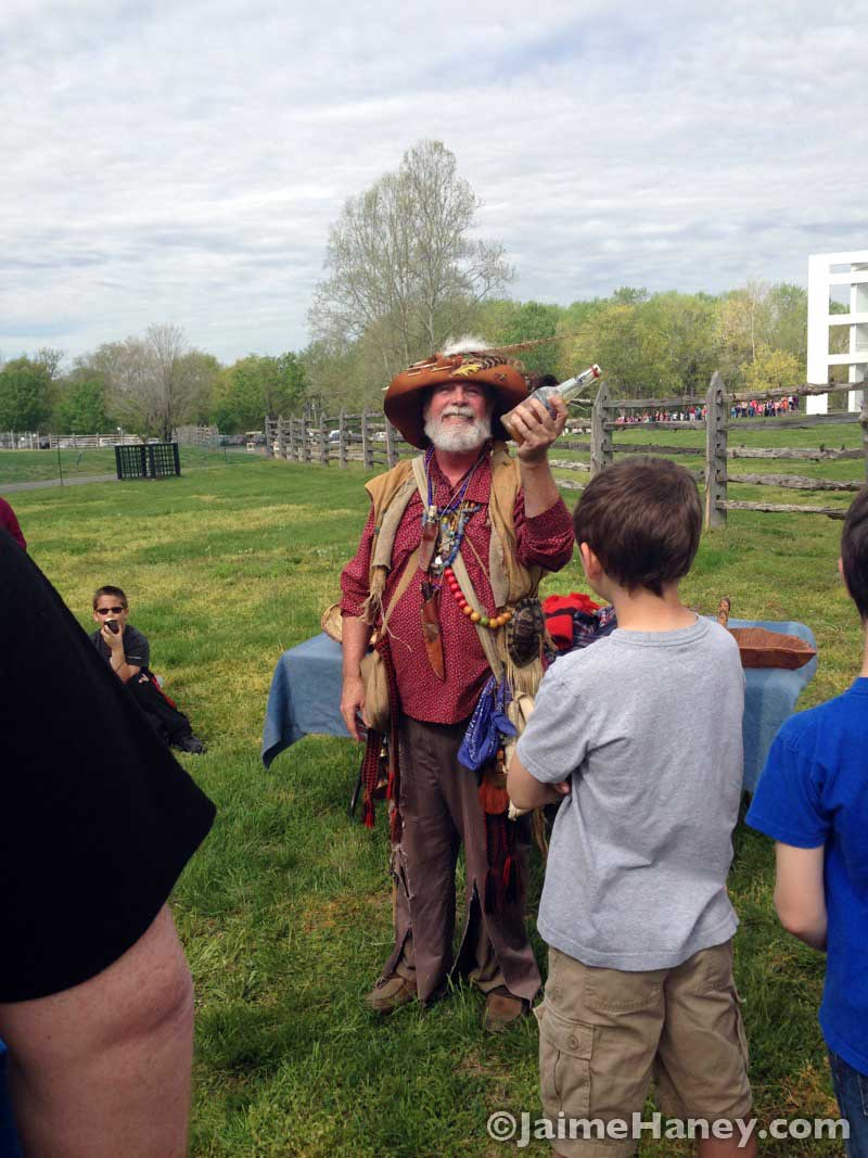 Steve McPhail as Johnny Appleseed during the Heritage Artisans Days in New Harmony Indiana 2016