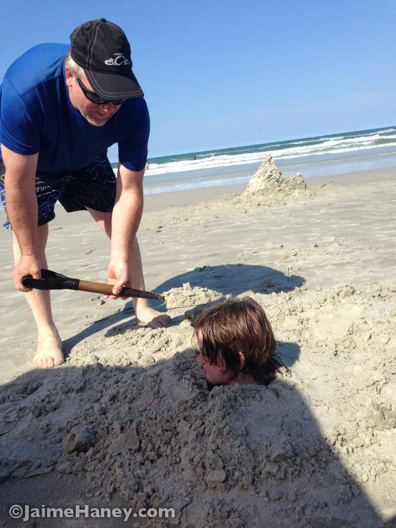 getting buried