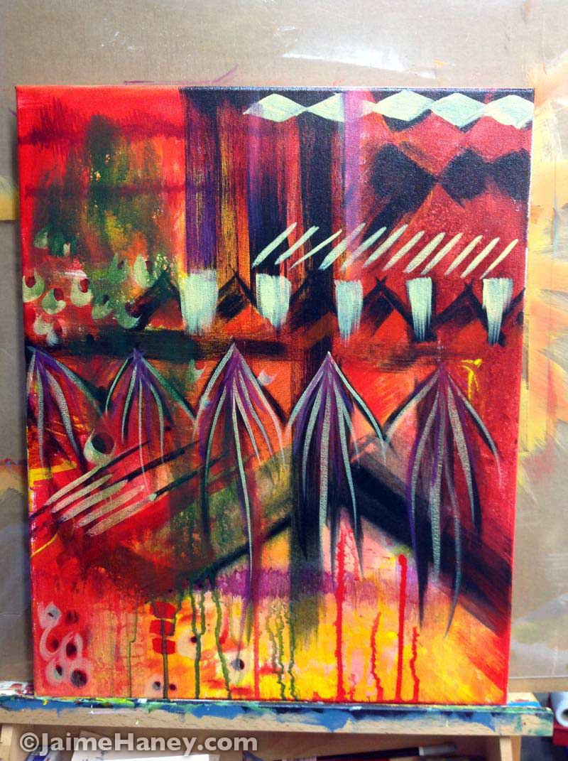 more work added to Spirit Voices painting