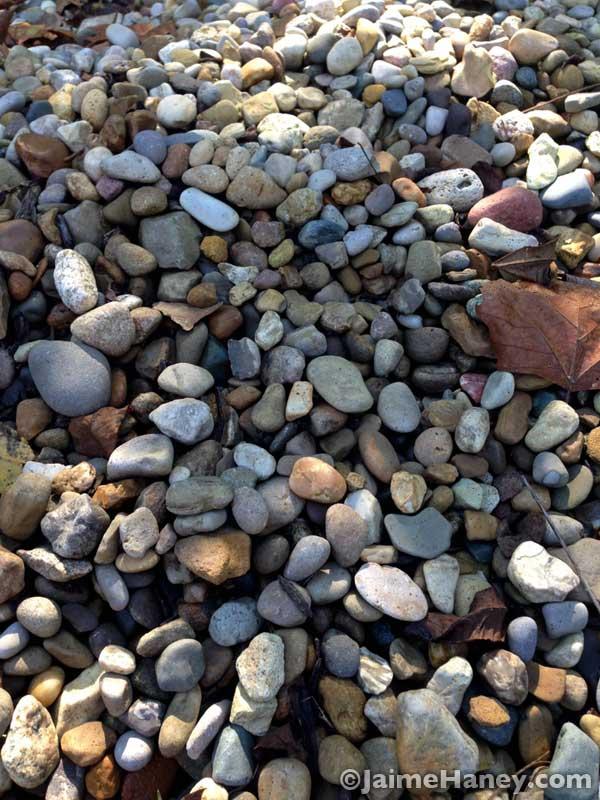 pile of river rocks