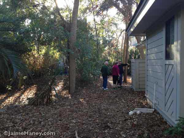 Checking out the Hilton Head Island home property