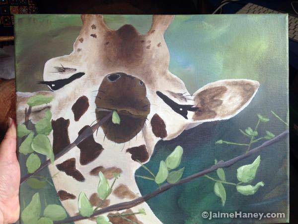 giraffe painting nearly done