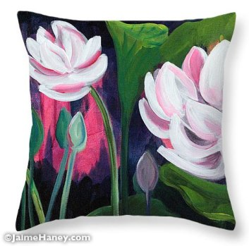 Lotus Garden 3 Pillow