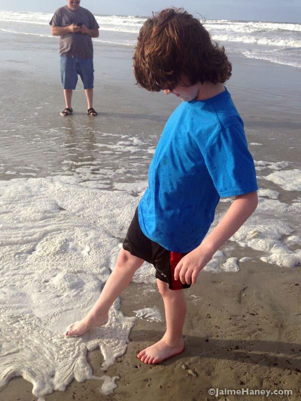 toes in the sea foam