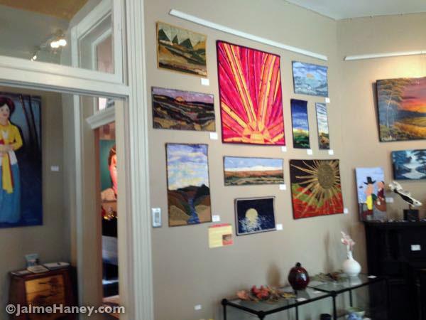 Inside staC art gallery