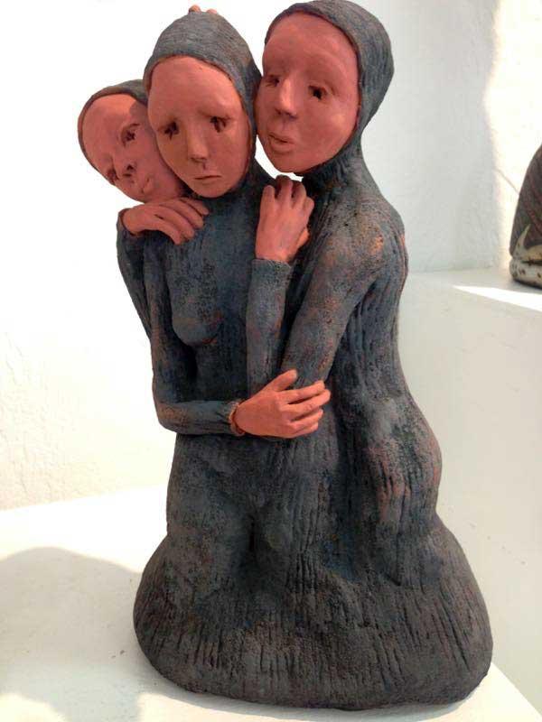 Three women sculpture