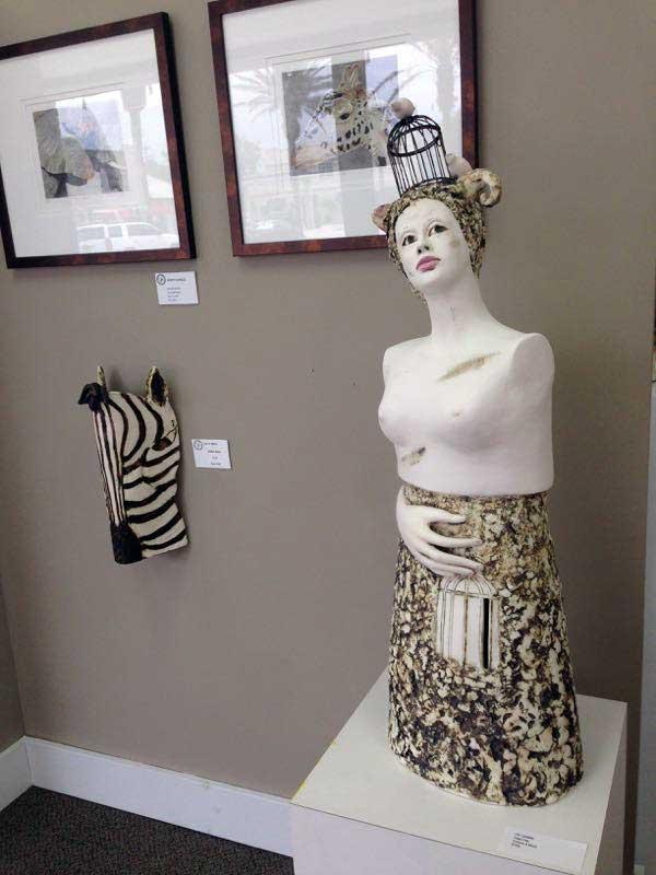 artwork on display by Nancy Charles, Katty Smith and Fay Samimi