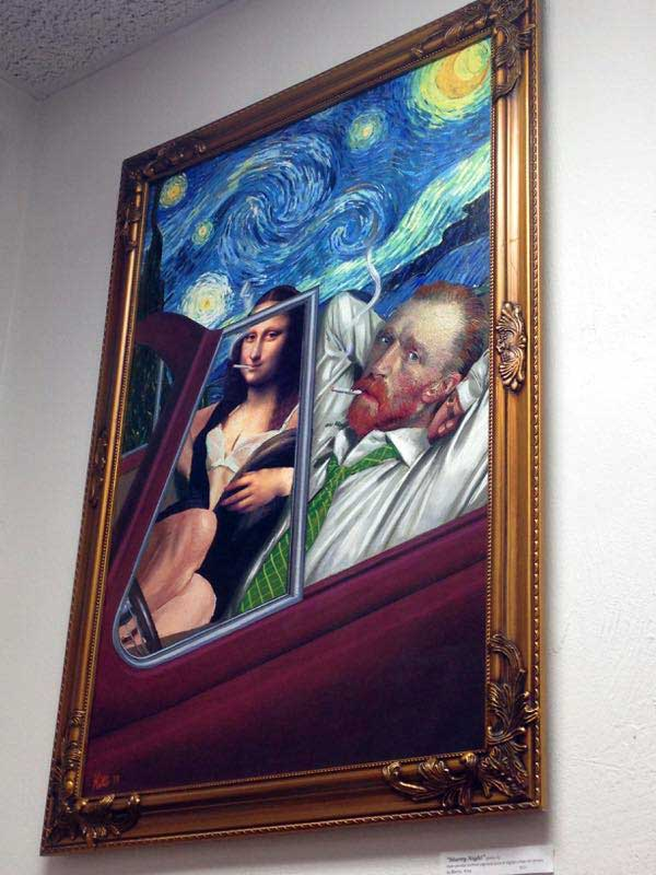 Van Gogh and Mona Lisa collage by Barry Kite