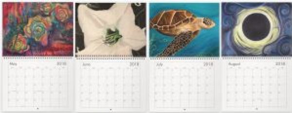 Art Calendars. Paintings for May, June, July and August