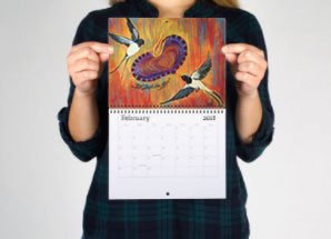 Mini Art Calendar sample size
