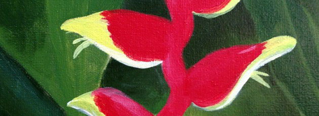 Day 16 – Heliconia flower painting