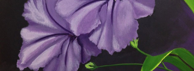 Day 27 Mexican Petunias Painting