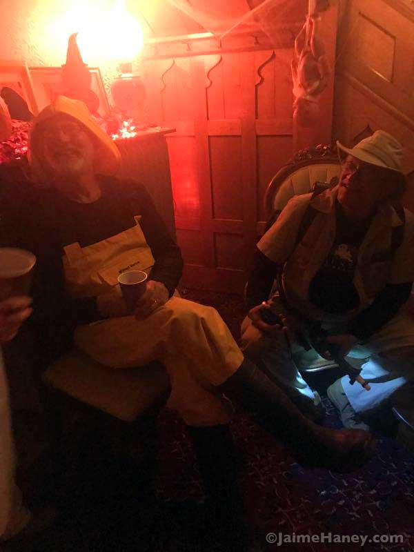 Gorton's Fisherman costume and Ghostbuster costume