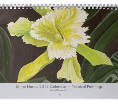 2019 Tropical Floral Art Calendar