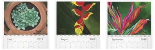 July - September paintings