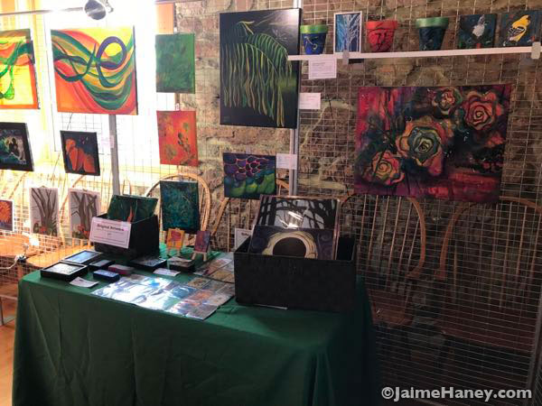 close up of my booth at the Artisans Market