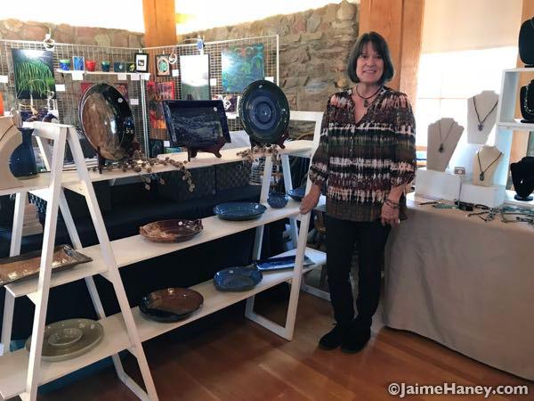 Rosemary Chamberlain's art booth