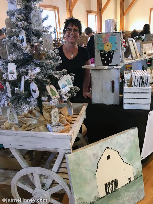 Vicki Wilson and her Farmhouse Rustic paintings